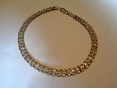 9ct gold 0.50ct diamond tennis bracelet 7.5 inches long UK hallmark