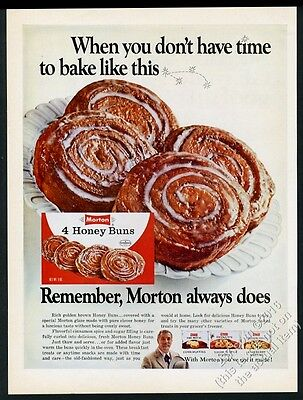 1968 Morton's Honey Buns pastry danish photo vintage print ad