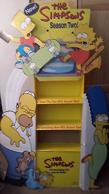 The Simpsons DVD Cardboard Store Display RARE!!!