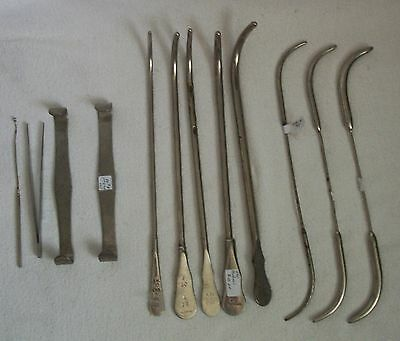 antique medical lot of surgical tools
