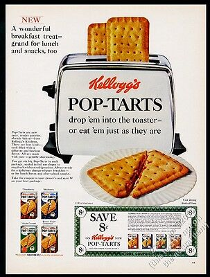1966 Kellogg's Pop-Tarts 4 flavors photo introductory vintage print ad