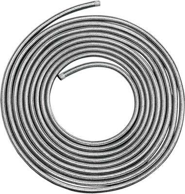 """DS Braided Stainless Gas/Oil Hose 5/16"""" x 25'"""