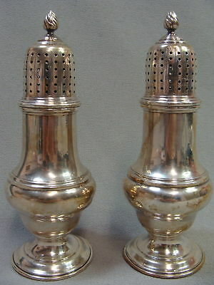 James Robinson Pair of Solid Sterling Silver 665 Heavy Salt and Pepper Shakers