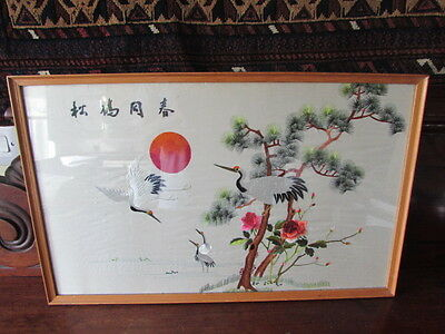 Chinese Republic Period Silk Embroidered Picture