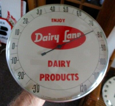 """Rare 1950s DAIRY LANE DAIRIES """"PAM-STYLE' THERMOMETER...COOL!"""