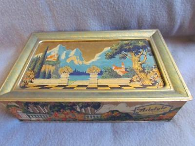 Vintage Artstyle Chocolates Tin Maxfield Parrish Style