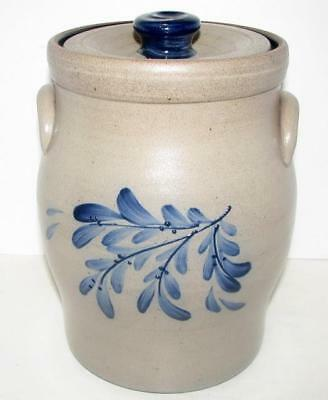 2005 Rowe Pottery Teaberry Crock/cannister With Lid