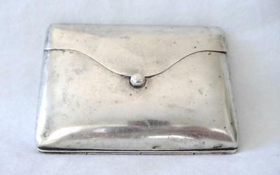 1800s Victorian Etched Sterling Silver Dance Card Coin Purse Pocketbook