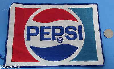 "GIANT PATCH - vintage - PEPSI Employee Patch 8"" x 6""! VINTAGE"