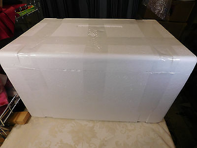 "Styrofoam Insulated Shipping Box Cooler 24""Lx15""Dx13.5""H Outside Dimensions"