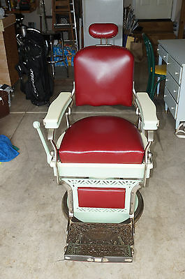 Vintage Koken Barber Chair - Leather - Beautiful