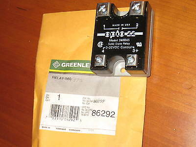 Greenlee Hydraulic Power Pump 975 980 solid state relay #86292