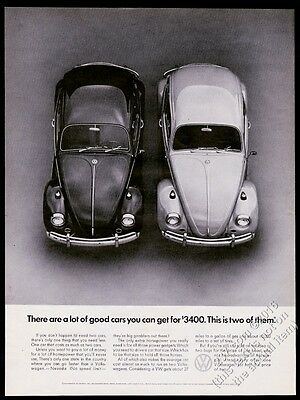 1967 VW Beetle classic car photo 2 For $3400 13x10 vintage Volkswagen print ad