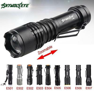 SKYWOLFEYE 8000LM CREE Q5 14500 Zoom LED Penlight AA Mini Police Pocket Torch MT