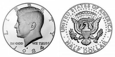 1984 S Gem Bu Proof Kennedy Half Dollar 50 Cent Brilliant Uncirculated Coin Pf