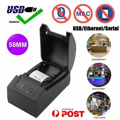 58mm USB Black POS Thermal Receipt Printer Office High Quality+Free Paper Roll S
