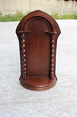 Beautiful Vintage Wooden Chapel Niche For Statue