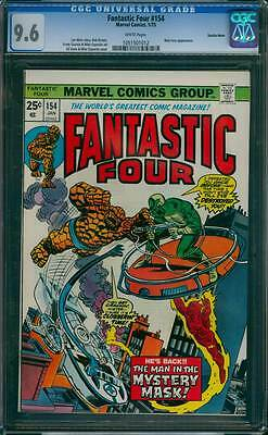 Fantastic Four # 154  The Man in the Mystery Mask !  CGC 9.6 scarce book !