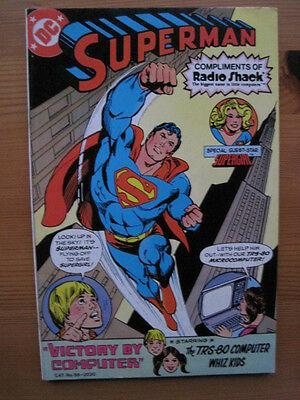 """Superman : """"victory By Computer"""". Rare Free One-Shot From Radio Shack. Dc. 1981"""