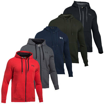 Under Armour 2018 Mens Rival Fitted Full Zip Hoodie Training Hooded Jacket