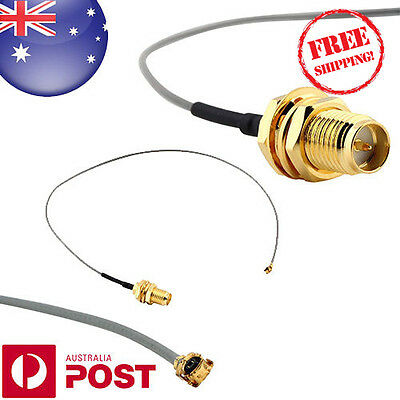 U.FL IPX to RP-SMA female RF Pigtail Cable Jumper for PCI Wifi Card 10cm Z093F