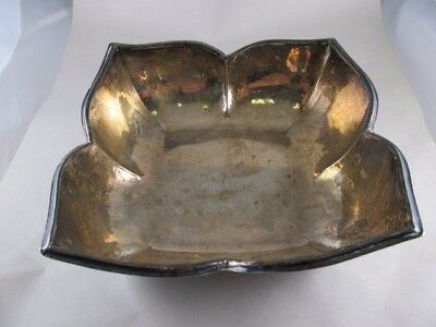 Italy M Mura 800 Silver Partial Hand-Hammered Modern Bowl Xlnt Cond No Mono