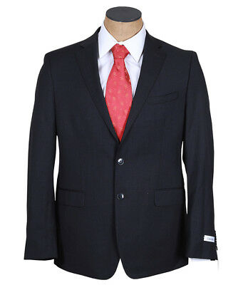 NEW Mens Calvin Klein Charcoal Gray Extreme Slim Fit Wool Suit