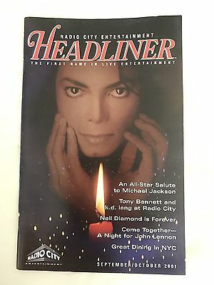 Michael Jackson All Star Salute Nyc Madison Sg 2001 Concert Headliner Booklet