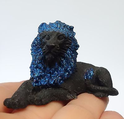 CASTAGNA 1992 MINIATURE LION ANIMAL FIGURE FIGURINE SIGNED & DATED Made in ITALY