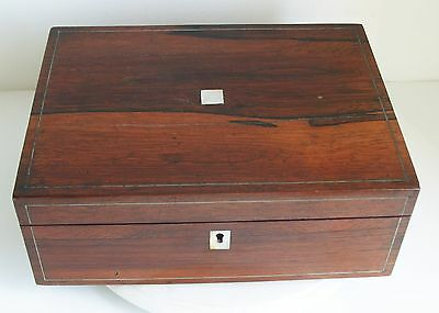 Victorian Writing slope Antique Old Wooden Wood Brass Desk top Vintage Box