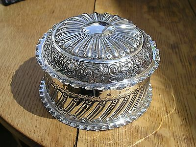 Attractive Victorian Solid Silver Dressing Table Box