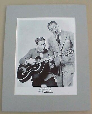 Frank Federico with Louis Prima EPIPHONE guitar reproduction print ad pro matted