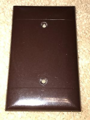 Vintage Mid Century Brown Bakelite Blank Switch or Outlet Plate Cover