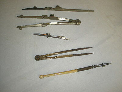 ANTIQUE DRAFTING INSTRUMENTS.  no name of producer.