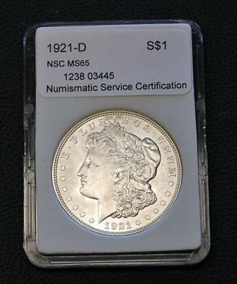 1921-D Morgan Silver Dollar Like Gem Ms/bu Us Coin