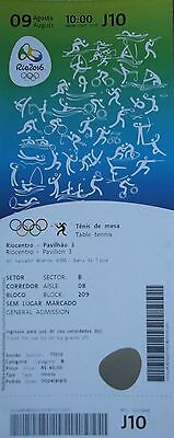 TICKET A 9.8.2016 Olympia Rio Olympic Tischtennis Table Tennis # J10