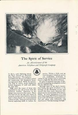 Vintage Magazine Ad - 1928 - Bell System / AT&T - The Spirit of Service