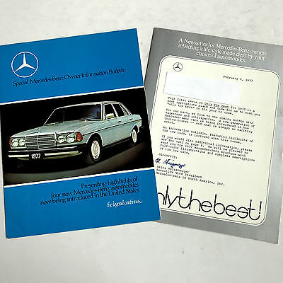 1977 Mercedes-Benz  Newsletter & Dealer Sales Brochure  Original
