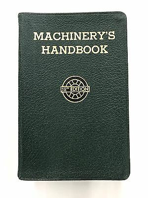 Machinery's Handbook Toolbox Edition w/thumb Index 12th Edition Machinist 1944