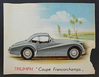 Original 1953 Vintage Triumph Coupe Francorchamps Salesroom UK Sales Brochure