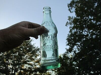 Rare Art Deco 1927 Aliceville Alabama Soda Bottle Root Green Small Town Nice