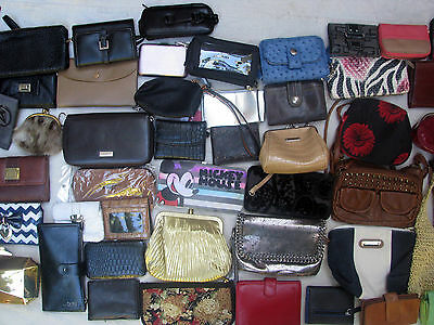Huge Lot Womens Wallets Leather Clutches Small Bags Pouches Travel Organizers