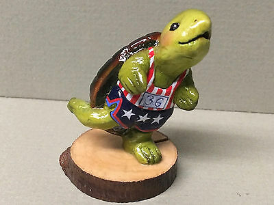 "WEE FOREST FOLK-""Turtle Jogger"" Retired- TS-1S Limited Edition #215 Of 315-mint!"
