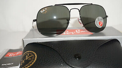 d91ed7d1249 RAY BAN New Sunglasses GENERAL Black Green Classic G-15 RB3561 002 58 57