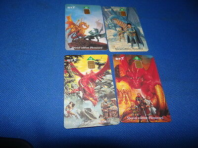 BT Phonecards Dragons of Summer Flame Set of 4 Cards