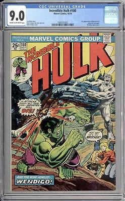 Incredible Hulk # 180  First appearance of Wolverine !  CGC 9.0 scarce book !