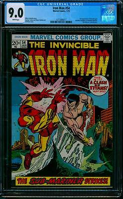 Iron Man # 54  First appearance of Moondragon !  CGC 9.0 scarce book !