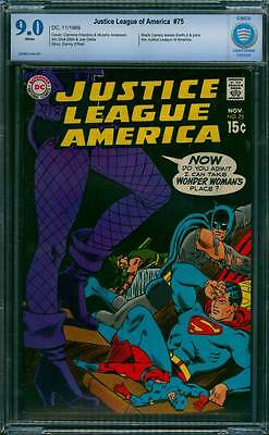 Justice League of America # 75  Black Canary Joins JLA !  CBCS 9.0 scarce book !