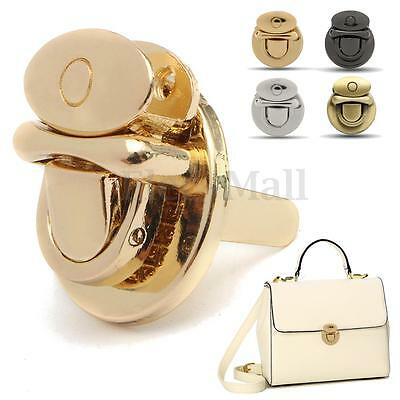New Metal Round Shape Clasp Turn Lock Twist Lock DIY Handbag Bag Purse Hardware