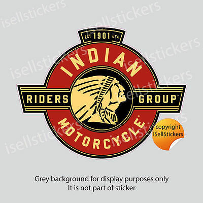 BM-12026  Indian Motorcycle Riders Group Vinyl Car Bumper Sticker Window Decal